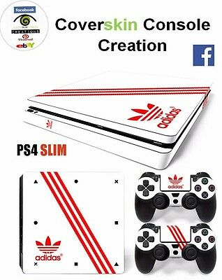 COVER SKIN CONSOLE PS4 SLIM ADIDAS Console COVER Skin Sticker + controllers
