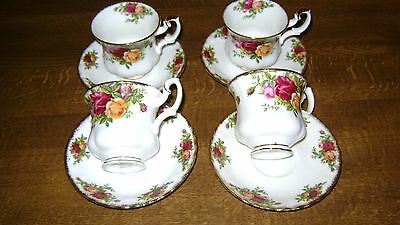 Royal Albert Old Country Rose Coffee Cups &  Saucers