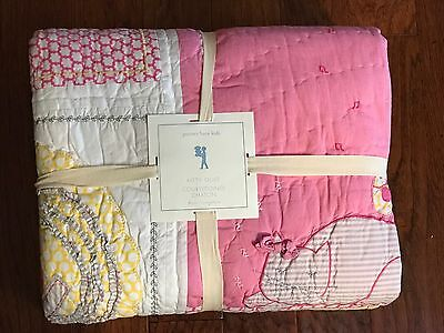 Pottery Barn Kids KITTY CAT Patchwork Twin Quilt NIP Pink  NLA@PBK
