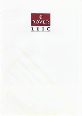 Catalogue ROVER 111 C - 6 pages - 08/1990