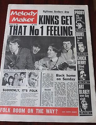 Melody Maker February 13 1965 Kinks Seekers Proby Berry Pitney Stones Rollins