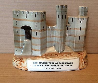 Bretby Pottery Caernarvon Castle Investiture of Prince of Wales 1969.