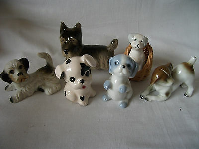 Group of 6 small Dog characters Ref 617