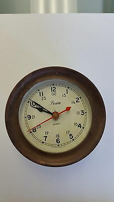 Vintage Chelsea USA BOSTON Shipstrike Quartz Clock Working