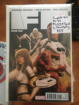 FF #1-23 Vol 1 NM 1st Print Set Hickman Epting Fantastic Four Spider-Man SIGNED