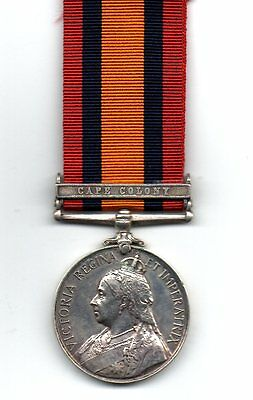 Queens South Africa Medal, Clasp: Cape Colony to 6962 Pte W. Simmons, Ryl Warwks