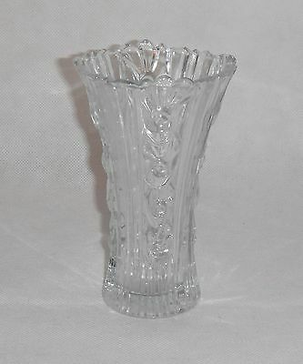 Cut Glass Vase - Vintage Decorative Art Nouveau Design