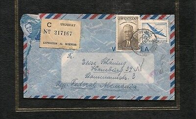 URUGUAY - Germania Ovest 1954 Busta C n.217167 expedicion al interior air mail
