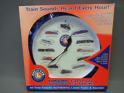 Lionel Train Clock With Locomotive Sounds Battery Operated Blue Round In Box