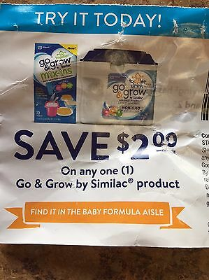 2 coupons go and grow from similac