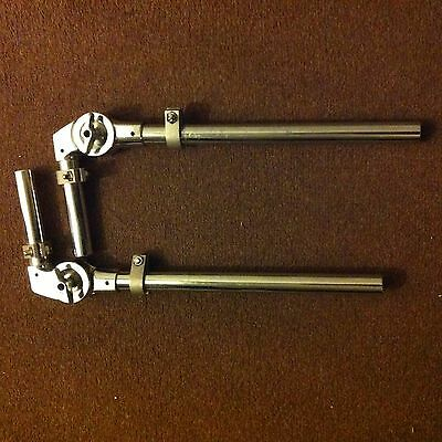2 Bass Drum Tom Holder Mount Arm for kit bracket ludwig cymbal pearl stand