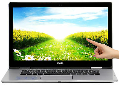 "New Dell Inspiron 2 in 1 256GB SSD Intel i5-7200U 2.5GHz 15.6"" Touch 8GB Win10"