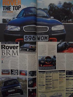 """Rover 200 Vi BRM Limited Edition 1998 """"Autocar"""" Road Test Magazines"""