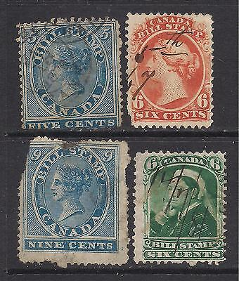 CANADA   bill stamps   mixed condition