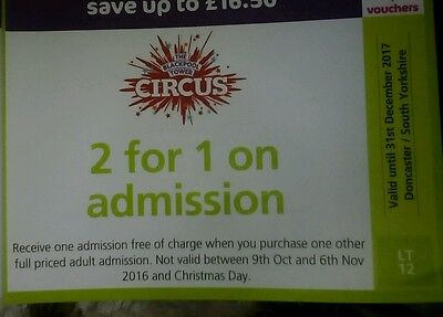 Blackpool tower circus 2 for 1 voucher
