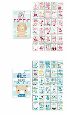 30 Baby Girl/ Boy Memorable Moments Milestone Cards Photo Props Baby Shower Gift