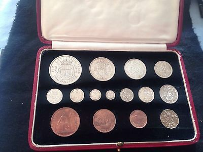 1937 Royal Mint 15 Coin Proof Set - Crown To Maundy Penny