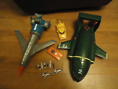 "THUNDERBIRDS Vehicles Joblot 1 2 4 + figures talking /sounds 14"" carlton"