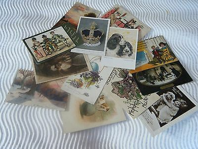Lot 5 13 Vintage Collectable Early Postcards