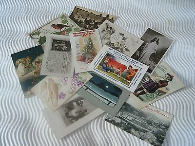 Lot 7  13 Vintage Collectable Early Postcards