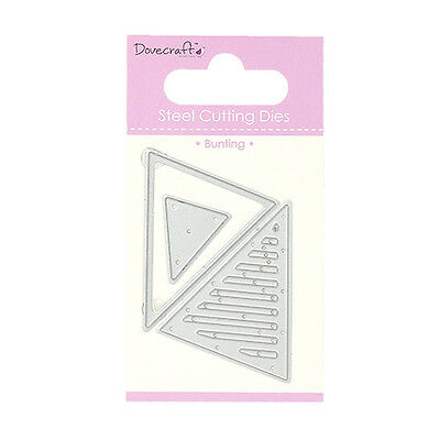 BUNTING - Dovecraft Mini Dies - free p&p/shipping on additional dies