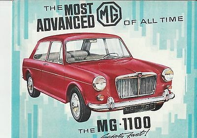 MG 1100  Brochure Catalogue - 1963