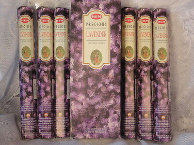 6 x PKTS OF LAVENDER HEM AGARBATTI AUTHENTIC  FINE  INDIAN GARAM  INCENSE