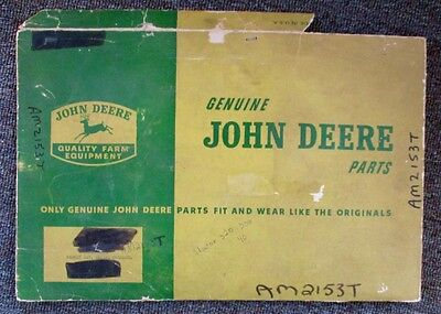 RARE 1950s-60s JOHN DEERE TRACTOR PARTS w/ SHIPPING ENVELOPE