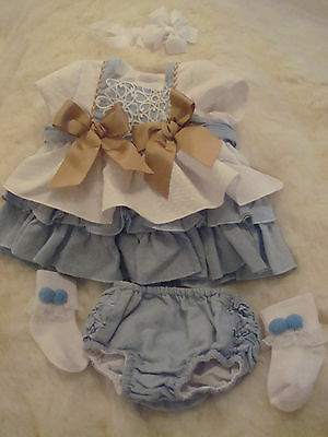 Spanish Romany Baby Girls Outfit Dress Jam Pants Pom Socks Headband