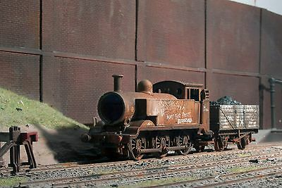 Scrapyard 0-6-0 Tank loco and wagon, heavily rusted & weathered ref 3