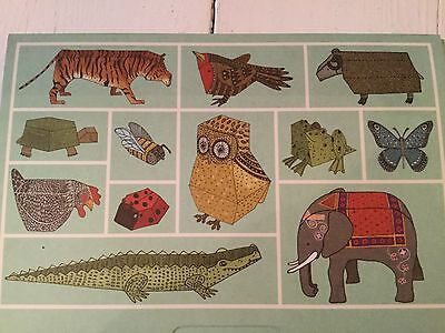 Alice Melvin''s Cut-Out And Make Menagerie of 12 Animals Tate Britain 2007 NEW
