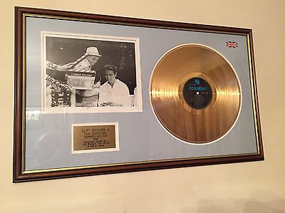 "Genuine Cliff Richard ""Summer Holiday"" Gold Disc Signed"