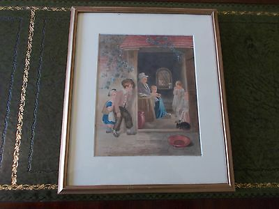 original victorian watercolour painting,william warman. signed ,listed artist.