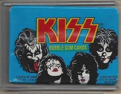 1978 donruss kiss sealed unopened wax pack