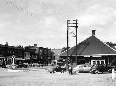 1940s TRAIN STATION TOWN OF SUSSEX, NEW BRUNSWICK