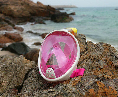 Tribord Pink Easybreath Kid's Full Face Snorkelling Mask Child's Subea Snorkel