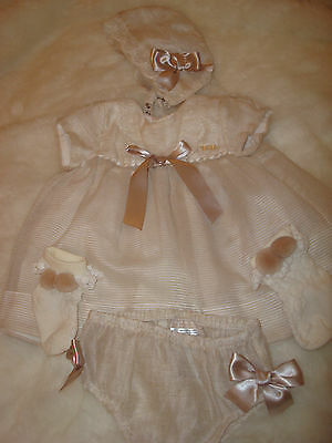 Spanish Romany Mayoral Baby Girls Outfit Dress Jam Pants Socks Hat Christeniing