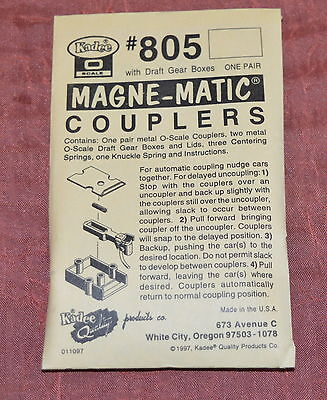 Kadee 805 Magne-Matic couplers O Gauge - free UK postage