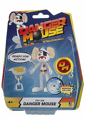 "Danger Mouse 3-Inch ""Danger Mouse"" Figure with Zipline Accessory Tv Character"