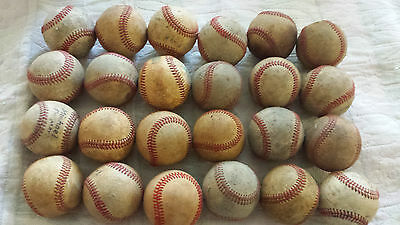 BASEBALLS BALLS  24  LATHER Well  USED