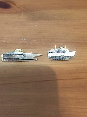 Stena Line Pin Badges - Stena Lynx Ii & British Columbia. Very Collectable