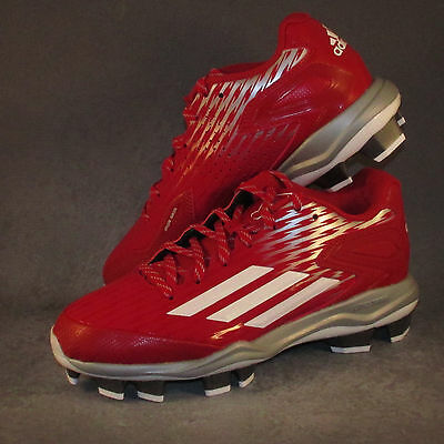 Women's Adidas PowerAlley 3 TPU Softball Cleats Red
