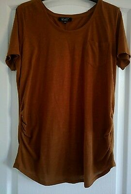 Brown maternity top size 12