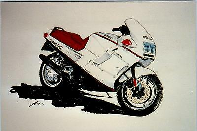 MOTORCYLE ART by Dave Marr Anderson  c1980s    ?   750   Postcard