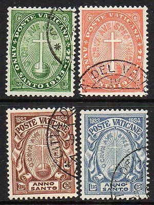 Vatican City 1933 Holy Year Set Used, Sg 15-18