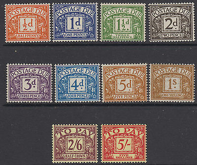 Great Britain 1955-7 Postage Due set of 10 SG D46-55 MNH