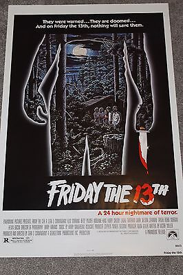 Friday The 13Th (Original Rolled 1982 Us One Sheet Poster, Slasher)