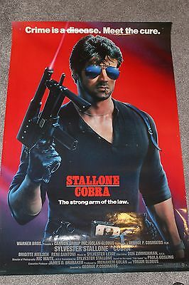 Cobra (Original Rolled 1986 Us One Sheet Poster, Stallone)