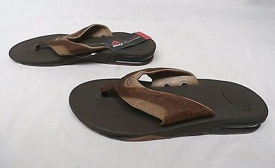 Reef Men's Leather Fanning Sandals Brown GG8 Size 9