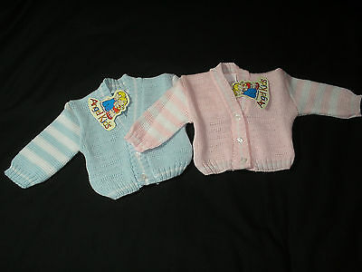 Baby Boy Girl clothes cardigan  knitted Blue Pink 0-3month 3-6months 6-9months
